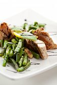 Grilled Foods - Fillet of Chicken with String Beans and Sauce