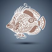 Vector Abstract Sea Fish