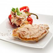 Grilled Foods - BBQ Pork with Stuffed Bell Pepper