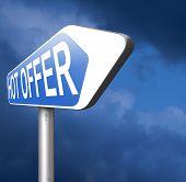 hot offer  for online internet web shop concept. Webshop shopping sales  announcing bargain for low