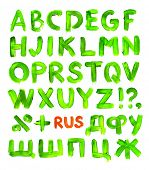 Green paint alphabet