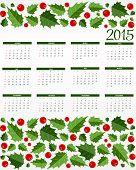 New Year Calendar 2015. Vector Illustration