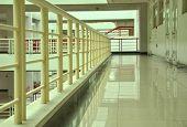 University campus corridor interior