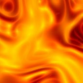 Abstract Simple Orange Fire Flames Background