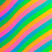 Abstract Wavy Colorful Rainbow Stripes Simple