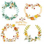 Autumn Banners and Tags - for your design and scrapbook - in vector