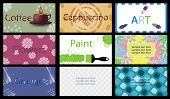set of vector business card
