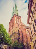 Retro Look Nikolaikirche Church Berlin
