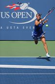US Open 2014 girls junior finalist Anhelina Kalinina from Ukraine during final match