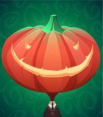 Jack lantern. Halloween poster \ background \ card. Vector illustration.