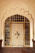 ornamental door in Agra fort India
