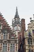 Ancient ornate bulinding in Gent, Belgium