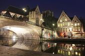 Night time in Ghent, Belgium
