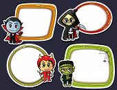 stock photo of chibi  - Halloween stickers set with Halloween characters and mascots - JPG