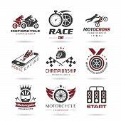 Motorcycle racing icon set - 2