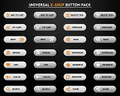 Set of simple grey e-shop buttons