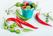 Chili Peppers With Herbs