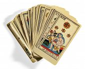 Fanned Out Italian Tarot Cards