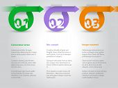 Infographic Design With Arrows And Numbers