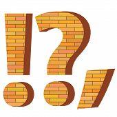 Brick Question Mark