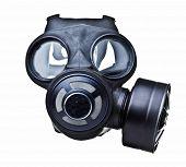 gas mask isolated on white
