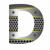 Perforated Metal Letter D