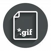 File GIF sign icon. Download image file.