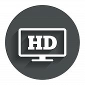 HD widescreen tv. High-definition symbol.