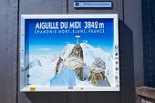 CHAMONIX, FRANCE - SEPTEMBER 02: Aiguille du Midi complex illustration. At 3842 meters, the complex offers close views of the Mont Blanc summit. September 02, 2014 in Chamonix.