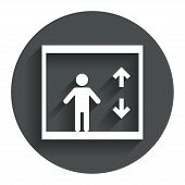 stock photo of elevator  - Elevator sign icon - JPG