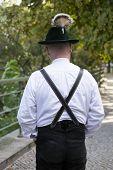 Backside Of Bavarian Man