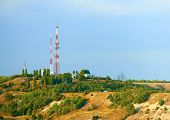 Television tower on top of a hill. Saratov.