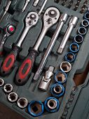 Toolbox, Tools Kit Detail Close Up
