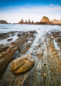 Gueirua Beach In Asturias, Spain.