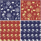 four new year and christmas backgrounds