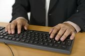 Business Man Typing