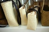 Rattan Bag On Shelves