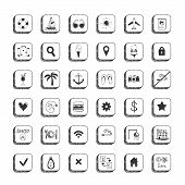 Collection Of Vector Travel Icons