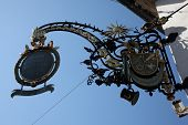 MILTENBERG, GERMANY - JULY 20: old sign for an restaurant in the old town of Miltenberg in Miltenber