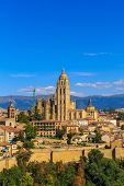 Segovia Roman Catholic Cathedral At Castile And Leon, Spain