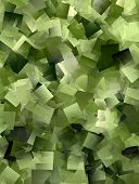 Cool Mosaic Background In Green