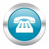 phone internet blue icon