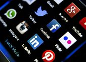 Belgrade - February 04, 2014: Popular Social Media Icons On Smartphone Screen