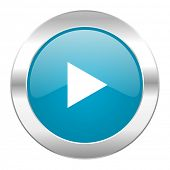 play internet blue icon