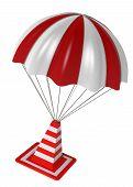 Traffic Cones And Parachute