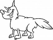 Wolf Animal Cartoon Coloring Book