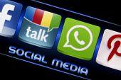Belgrade - September 09, 2014 Social Media Icons Google Talk And Whatsapp On Smart Phone Screen Clos