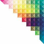 image of triangular pyramids  - creative colorful triangular design banner design vector - JPG