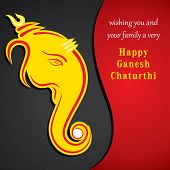 happy ganesh chaturthi festival greeting card background vector