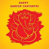 happy ganesh chaturthi sketch greeting card design background vector